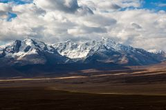 Montanha de Qiwllarahu imagem de stock