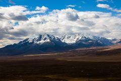 Montanha de Qiwllarahu fotos de stock royalty free
