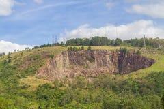 Montanha de Santana na cidade de Porto Alegre foto de stock royalty free