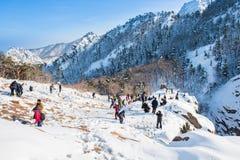Montanha de Seoraksan em Coreia do Sul Imagem de Stock