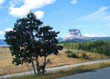 Montanha de Stoney pelo parque nacional de geleira Imagens de Stock