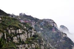 Montanha de Taishan na porcelana Imagens de Stock