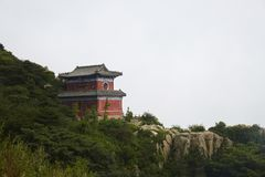 Montanha de Taishan, Shandong, China imagem de stock royalty free