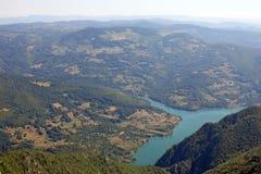 Montanha de Tara da paisagem do ponto de vista do stena de Biljeska Fotografia de Stock