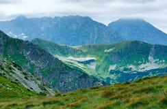 Montanha de Tatra do verão, Poland fotografia de stock