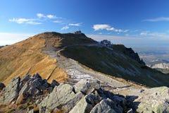 Montanha de Tatra, Polônia, vista do cabl da parte superior da montagem de Kasprowy Wierch imagens de stock