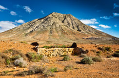Montanha de Tindaya, Fuerteventura, Foto de Stock Royalty Free