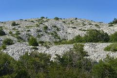 Montanha de Velebit Foto de Stock Royalty Free