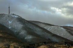Montanha de Vitosha no inverno, perto de Sófia, Bulgária imagem de stock