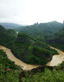 Montanha de Wuyi fotografia de stock royalty free