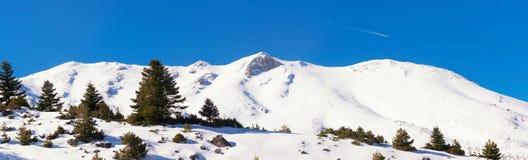 Montanha de Ziria em Trikala do panorama de Corinth em Grécia Imagens de Stock