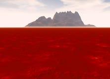 Montanha distante na paisagem do horizonte Imagens de Stock