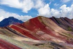 Montanha do arco-íris de Vinicunca aka na região de Cusco, Peru imagem de stock royalty free