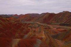 Montanha do arco-íris em Zhangye, China Imagens de Stock Royalty Free