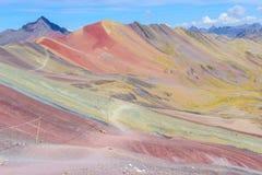 Montanha do arco-íris, perto de Cusco, Peru fotografia de stock royalty free