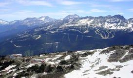 Montanha do assobiador, Canadá Foto de Stock