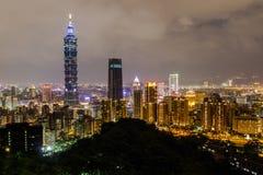 Montanha do elefante, o melhor ponto de vista da cidade de Taipei Imagem de Stock Royalty Free