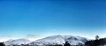 Montanha do inverno do distrito do lago Fotos de Stock Royalty Free
