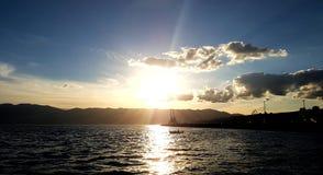 Montanha do mar de Sun Imagens de Stock Royalty Free