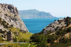 Montanha do Mar Negro e de Karadag Foto de Stock Royalty Free