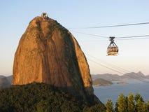 Montanha do naco do açúcar em Rio de Janeiro Foto de Stock Royalty Free