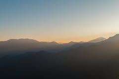 Montanha do nascer do sol fotos de stock royalty free