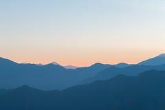 Montanha do nascer do sol Fotografia de Stock