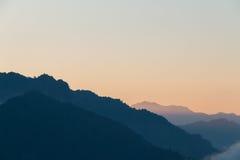 Montanha do nascer do sol fotos de stock