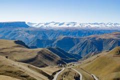 Montanha do panorama da paisagem com montes do outono Fotos de Stock Royalty Free