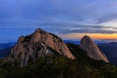 Montanha do parque nacional de Bukhansan Fotografia de Stock