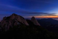 Montanha do parque nacional de Bukhansan Imagem de Stock