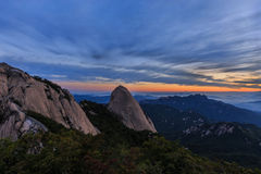 Montanha do parque nacional de Bukhansan Imagens de Stock