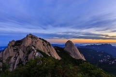 Montanha do parque nacional de Bukhansan Foto de Stock Royalty Free