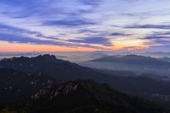 Montanha do parque nacional de Bukhansan Fotos de Stock