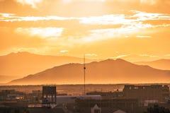 Montanha do por do sol Foto de Stock