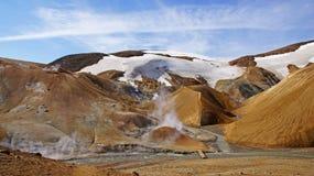 Montanha do rhyoliet de Kerlingarfjoll no centro de Islândia Fotografia de Stock