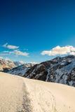 Montanha dos cumes foto de stock