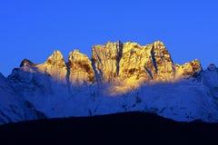 Montanha dourada fotos de stock royalty free