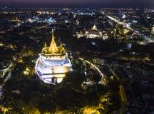 Montanha dourada em Banguecoque fotos de stock