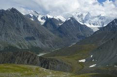 Montanha e Belukha de Altay Imagens de Stock Royalty Free