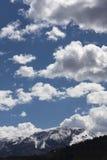Montanha e céu Foto de Stock Royalty Free