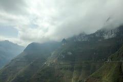 Montanha e estrada feliz no pi Leng do miliampère Fotografia de Stock