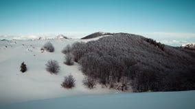 Montanha e floresta escura na montanha de Velebit Imagem de Stock