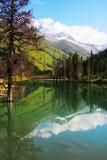 Montanha e lago de Siguniang Fotografia de Stock