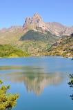 Montanha e lago no.1 Imagem de Stock