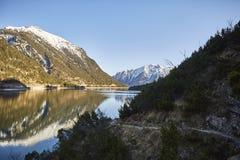 "Montanha e lago no lago Achensee no †""Stockfoto de Áustria imagem de stock royalty free"