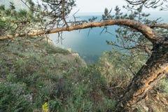 Montanha e mar Foto de Stock