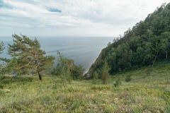 Montanha e mar Fotos de Stock Royalty Free