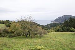 A montanha e o mar cantábrico Foto de Stock
