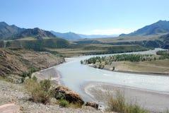 Montanha e paisagem do rio Imagem de Stock Royalty Free